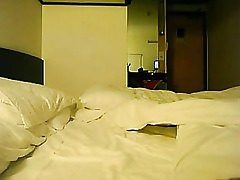 Japanese fledgling lovemaking in a hotel apartment