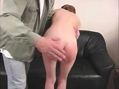 Skinny Zoe can't pay her rent and he spanks her lil' ass red