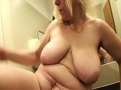 Ash-blonde Mature Fucked In A Public Mall Rest room