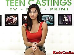 Fledgling sweetheart hardfucked at audition