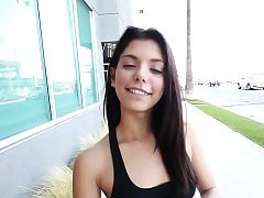 Latina teenager nutted in pov