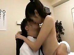 Pretty Japanese teenager has a kinky doctor thoroughly examinin