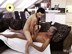Old man youthfull girl big tits What would you prefer -