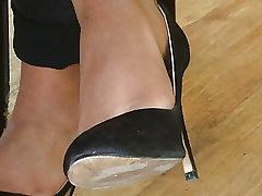 Candid feet and high-heeled shoes at work #20