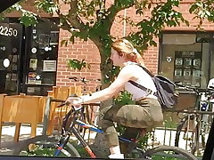 Bombshell Donk Biker on Campus