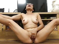 ASIAN Mother PLAYS WITH HER PUSSY