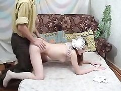 Russian schoolgirl gets shaved cootchie nailed