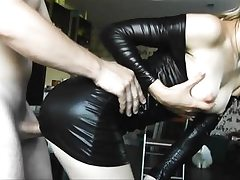 Spandex youthful stunner gets doggy porked rock-hard
