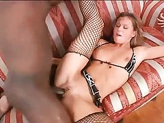Horny blonde cutie gets fucked by big black cock