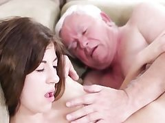 Hardcore old young sex with sloppy grandpa