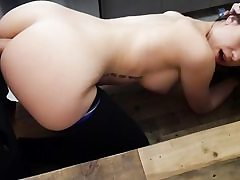 Sexy nubile getting fucked hard in doggystyle