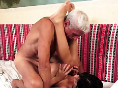 Nubile rides wrinkly gramps